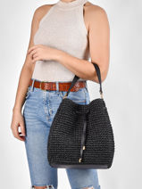 Sac Seau Debby En Paille Crocheté Lauren ralph lauren Noir dryden 31826559-vue-porte