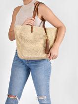 Sac Cabas Whitney En Paille Crochetée Lauren ralph lauren Beige dryden 31818856-vue-porte