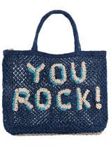 "Shoppingtas ""you Rock!"" Van Jute The jacksons word bag YOUROC"