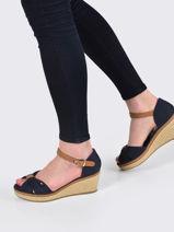 Sandalen met sleehak iconic elba-TOMMY HILFIGER-vue-porte