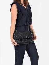 Sac Bandoulière Coco Miniprix Noir couture R1575-vue-porte