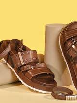 Sandalen uit leder-MJUS