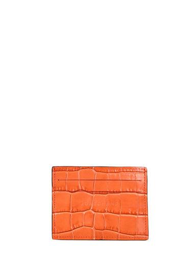 Longchamp Le pliage cuir croco Porte billets/cartes Noir