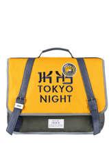 Boekentas 2 Compartimenten Ikks Geel backpacker in tokyo 20-38836