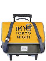 Boekentas Op Wieltjes 2 Compartimenten Ikks Geel backpacker in tokyo 20-42836