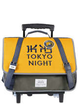 Cartable A Roulettes 2 Compartiments Backpacker In Tokyo Ikks Jaune backpacker in tokyo 20-42836