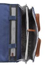 Cartable 2 Compartiments Cameleon Bleu vintage urban PBVBCA35-vue-porte