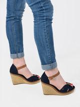 Elena sandalen met sleehak -TOMMY HILFIGER-vue-porte