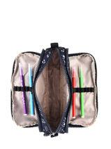 Trousse 3 Compartiments Kipling Bleu back to school / pbg PBG13564-vue-porte
