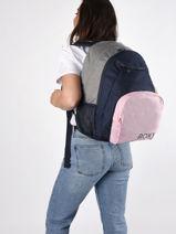 Sac A Dos 3 Compartiments Roxy Bleu back to school RJBP4263-vue-porte
