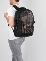 Rugzak Superdry Zwart backpack men M9110026-vue-porte