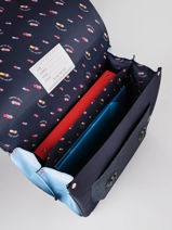 Boekentas It Bag Maxi Girl 2 Compartimenten Jeune premier Blauw daydream girls G-vue-porte