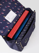Boekentas It Bag Midi Girl 2 Compartimenten Jeune premier Blauw daydream girls G-vue-porte