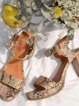 Sandalen met blokhak jain leder-MAM
