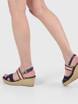Sandalen met lage sleehak artisan-TOMMY HILFIGER-vue-porte