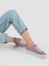 Sneakers met platformzool corporate-TOMMY HILFIGER-vue-porte