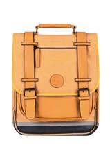 Rugzak 2 Compartimenten Cameleon Geel vintage color VIC-SD38