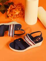 Sandalen met lage sleehak artisan-TOMMY HILFIGER