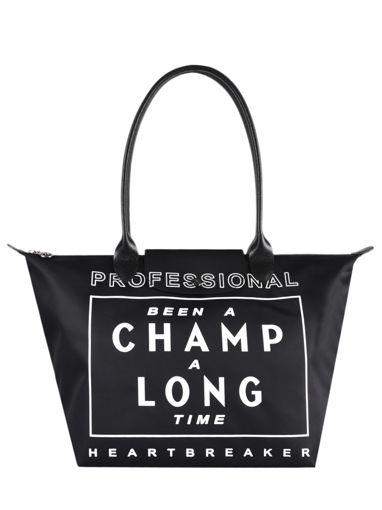 Longchamp Been a champ a long time Schoudertas Zwart