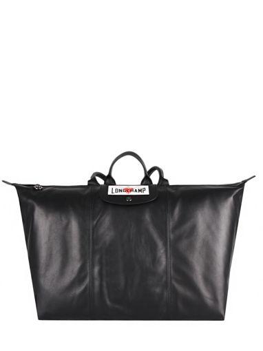 Longchamp Cascading logo Rugzak Zwart