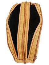 Pennenzak Kind 2 Compartimenten Cameleon Geel vintage chine VIN-TROU-vue-porte