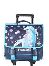 Cartable à Roulettes 2 Compartiments Frozen Bleu flocon 18GLAC