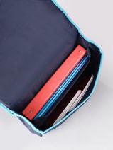 Cartable 2 Compartiments Frozen Bleu flocon 13GLAC-vue-porte