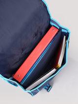 Boekentas Met Wieltjes 2 Compartimenten Frozen Blauw flocon 18GLAC-vue-porte
