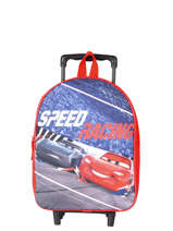 Sac A Dos A Roulettes 1 Compartiment Cars Rouge speed 4CENTR