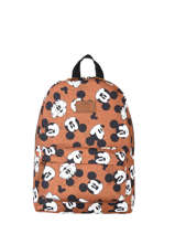 Sac A Dos 1 Compartiment Mickey and minnie mouse Orange fashion 1048