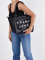 Longchamp Been a champ a long time Schoudertas Zwart-vue-porte