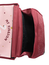 Cartable 1 Compartiment Réversible Pol fox Rouge fille FCA35R-vue-porte