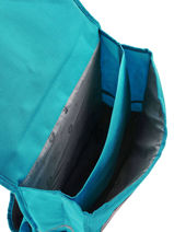Cartable 2 Compartiments Pol fox Bleu fille F-CA38-vue-porte