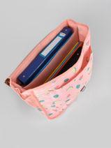 Boekentas 1 Compartiment Roxy Roze back to school RJBP3048-vue-porte