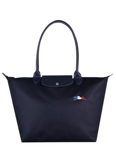 Longchamp Le pliage trÈs paris Schoudertas Blauw