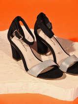 Sandalen met hak uit leder-TAMARIS