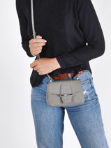 Longchamp Roseau Sac porté travers Gris-vue-porte