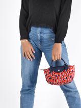 Longchamp Rodeo Sac porté main Rouge-vue-porte