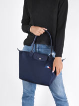 Longchamp Le pliage trÈs paris Besace Bleu-vue-porte