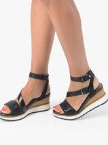Sandalen met sleehak-TAMARIS-vue-porte