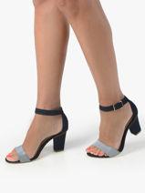 Sandalen met hak uit leder-TAMARIS-vue-porte