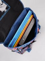 Boekentas 1 Compartiment Rip curl Blauw havana floral LBPQE1HF-vue-porte