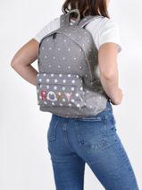 Sac à Dos 1 Compartiment Roxy Gris back to school RJBP4354-vue-porte