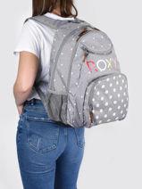 Sac à Dos 2 Compartiments Roxy Gris back to school RJBP4367-vue-porte