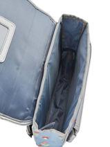 Cartable Mini Caramel et cie Bleu mini F-vue-porte