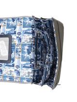 Cartable 2 Compartiments Ikks Jaune backpacker in tokyo 20-38836-vue-porte