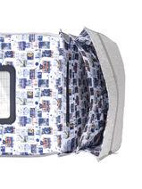 Boekentas Op Wieltjes 2 Compartimenten Ikks Geel backpacker in tokyo 20-42836-vue-porte