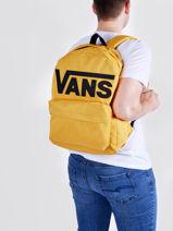 Sac à Dos Vans Jaune backpack VN0A5KHP-vue-porte