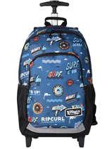 Sac à Dos à Roulettes 2 Compartiments Rip curl Bleu surfboard collection BBPCE3SS