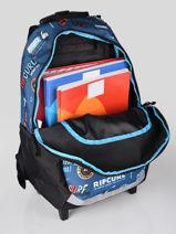Sac à Dos à Roulettes 2 Compartiments Rip curl Bleu surfboard collection BBPCE3SS-vue-porte